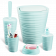 Набір для ванної кімнати Planet Welle 5 предметів сіро-блакитний