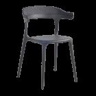 Крісло Papatya Luna-Stripe антрацит сидіння, верх антрацит