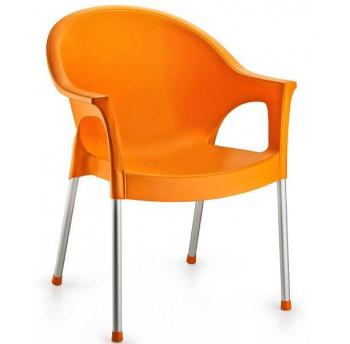 Крісло Irak Plastik Bergama помаранчевий