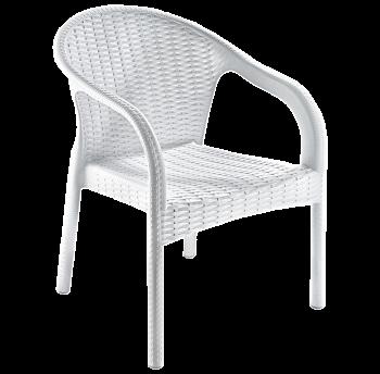 Крісло Irak Plastik Ege під ротанг білий