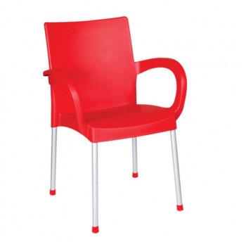 Кресло Irak Plastik Sumela алюминиевые ножки красный