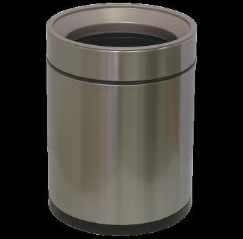 Відро для сміття JAH 8 л кругле срібний металік без кришки з внутрішнім відром