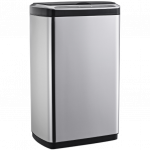 Сенсорное мусорное ведро JAH 30 л прямоугольное с внутренним ведром серебряный металлик