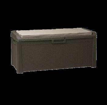 Скриня пластикова Santorini Plus 550 л коричнева з подушкою Toomax