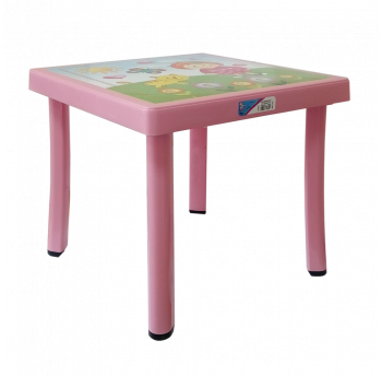 Стол детский декорированный 46,5x46,5 розовый