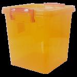 Контейнер на защелках 3,7 л оранжевый