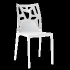 Стул Papatya Ego-Rock белое сиденье, верх прозрачно-чистый