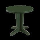 Стіл круглий Papatya Браво 80 зелений