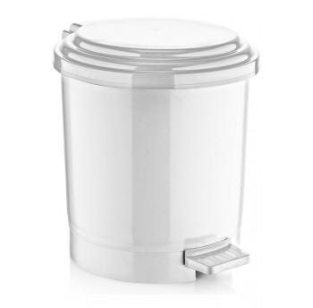Ведро для мусора с педалью Irak Plastik №2 10л белое