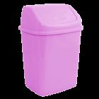 Ведро для мусора 10л с крышкой розовое