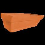 Грядка пластикова 210 л помаранчева