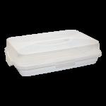 Тортовница прямоугольная белая