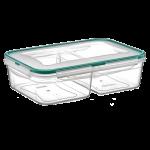 Контейнер Fresh Box 2 отсека 1 л + 1 л прозрачный