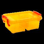 Контейнер на защелках двойной 0,5 л оранжевый