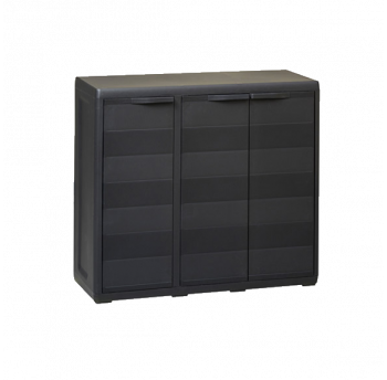 Шафа низька 3-дверна Elegance S Toomax чорна