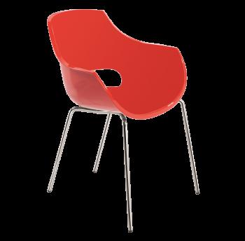 Кресло Papatya Opal красное