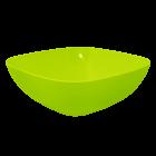Тарелка (глубокая) 15х15х5,5 см прозрачно-салатовая