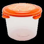 Контейнер глубокий 1,3 л прозрачно-оранжевый