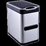 Сенсорное мусорное ведро JAH 7 л прямоугольное металлик с внутренним ведром