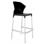 Барный стул Papatya Ego-S черное сиденье, верх черный