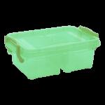 Контейнер на защелках двойной 0,5 л зеленый