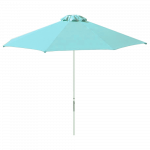 Зонт профессиональный The Umbrella House 2 м круглый KIWI CLIPS белая рама голубая ткань OLEFINE FABRIC