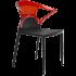 Кресло Papatya Ego-K черное сиденье, верх прозрачно-красный