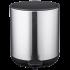 Ведро для мусора с педалью Nordic Style JAH 5 л круглое серебряное с внутренним ведром