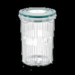 Емкость для хранения с дуршлагом 1,5 л прозрачная
