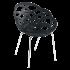 Кресло Papatya Flora-ML матовое черное сиденье, ножки хром