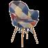 Кресло Tilia Gora-V ножки буковые, сиденье с тканью PATCHWORK
