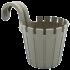 Горшок для цветов балконный подвесной Akasya Single 1,5 л серо-коричневый