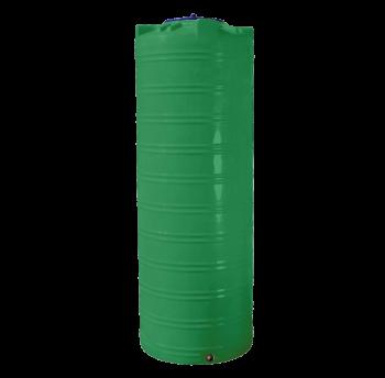 Емкость 1000 л узкая вертикальная двухслойная зеленая