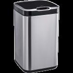 Сенсорное мусорное ведро JAH 7 л квадратное серебряный металлик с внутренним ведром