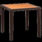 Стол Tilia Antares 80x80 см столешница ироко, ножки пластиковые венге