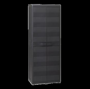 Шафа 2-дверна з поличками Elegance S Toomax чорна