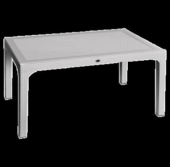 Стол Irak Plastik Olympia 90x150 под ротанг серый