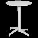Стол с откидной столешницей Tilia Moon d60 см белая слоновая кость