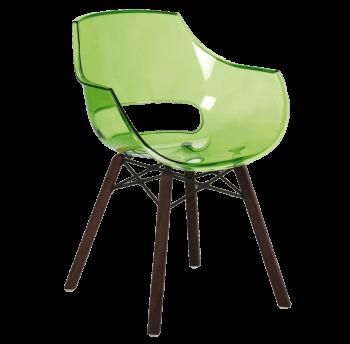 Крісло Papatya Opal Wox Iroko прозоро-зелене
