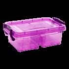 Контейнер на защелках двойной 0,5 л фиолетовый