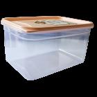 Контейнер Fresh Box прямоугольный 1,3 л прозрачный крышка оранжевая Irak Plastik