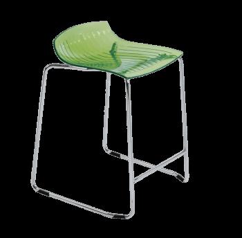 Стілець барний Papatya X-Treme Sled прозоро-зелений