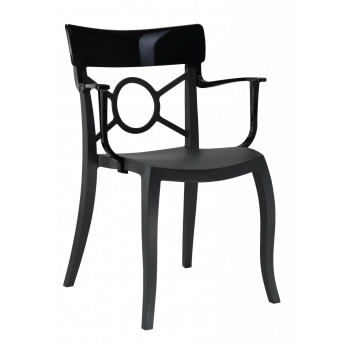 Крісло Papatya Opera-K сидіння чорне, верх чорний