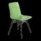 Стул Papatya X-Treme S Wox прозрачно-зеленый, ножки бук венге лак
