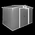 Сарай металлический ECO 262x241x191 см серый с белым