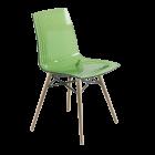 Стул Papatya X-Treme S Wox прозрачно-зеленый, ножки бук натуральный лак
